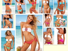 Wholesale Diamond Bandeau - 2014 Hot Slae Sexy Swimwear Female Monokini Diamond Bandeau Bikini Set Women Sexy Swimsuit Swimwear WY338