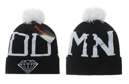 Wholesale Plain White Snapback Hats - New Fashion Bigbang GD Diamond Supply Co Beanie-Winter Hat Beanie-Wasted Beanie Supply Beanies Brand Snapback Caps brand designer hats Fre