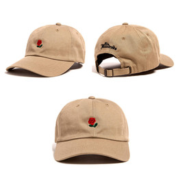 Wholesale Solid Rose Gold - 2016 New Fashion Snapback Caps The Hundreds Rose StrapBack Baseball Cap Hat For Men Women Hiphop Hat Peaked Cap Free Shipping
