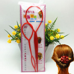 Wholesale Wholesale Hairstyles Tool - A tool for making hair,Essential tools for changing Hairstyles,Pull the needle,Magical disc hair tools,Size 2 Piece Set