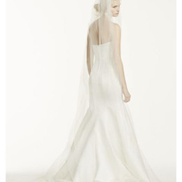 Lovey Hot Quality Capilla romántica Borde bordado velo con peine piezas de cabeza nupcial para vestidos de novia desde fabricantes