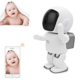 Wholesale Robot Plugs - Hot Robot Babyfoon Met Camera Monitor Wifi Alarm IP Camera Motion Detection 2-way Audio support MicroSD Card 720P Baby Monitors