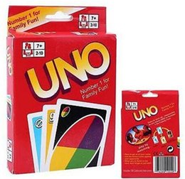 Wholesale Fun Entertainment - UNO card game Funny Entertainment Board Games UNO Fun Poker Playing Cards Puzzle Games family fun games free shipping in stock