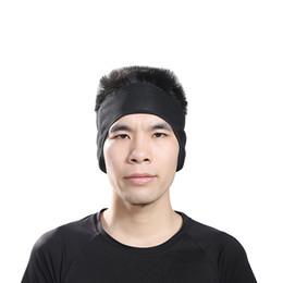 Wholesale Fleece Table Warmer - Headband Outdoor Sports Windproof Thermal Fleece Running Cycling Ear Protection Earmuffs Sport Keep Warm Ski Cap Black wholesale QLL14
