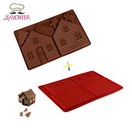 Wholesale Christmas House Model - Bayxheer Christmas House Gingerbread Silicone Molds Sugar Craft Cake Decorating Tools