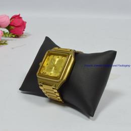 Almohadas de pulsera online-Envío gratis pulsera de terciopelo negro de la joyería cojín de la almohadilla de la almohadilla de visualización almohada reloj pequeño