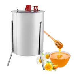 Wholesale FOUR FRAME HONEY EXTRACTOR STAINLESS STEEL Brand New Large Four Frame Stainless Steel Manual Honey Extractor