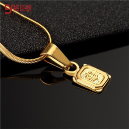 Wholesale Pendant Gold Dollar - 2016 New hiphop gold necklaces & Pendants for men jewelry unisex statement dollar square symbol women collier femme bijoux maxi collares