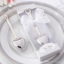 "Wholesale Tea Box Sale - hot sales ""Tea Time"" Heart Tea Infuser Heart-Shaped Stainless Herbal Tea Infuser Spoon Filter"