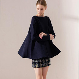 Wholesale Dolman Sweaters - New Womens Rabbit pile core Knitted Pullovers Jumper Sweater Solid Slash-Neck Thick Women's Sweaters Fashion Autumn Knitwear Clothes