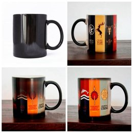 Wholesale Magic Cup Heat - Game Of Thrones Mug Families Banners Cup Heat Changing Color Magic Stark Ceramic Coffee Cups LJJO3143