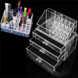 Wholesale Acrylic Drawers Wholesale - Acrylic Cosmetic Make Up Organizer Drawer Large Size Makeup Organizer Case Storage Holder Box Rangement Maquillage Storage Box LZ0201