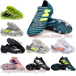 Wholesale Messi Football Boots - Mens Football Boots NEMEZIZ 17.1 FG Soccer Shoes Tango 17.3 IC TF Messi NEMEZIZ 17 360 Agility Superfly Soccer Cleats