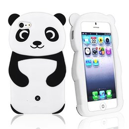 Wholesale Case Cell For Panda - For iphone 7 Silicone 3D cute panda cell case cover for apple Apple iPhone 6 5 5S 8 plus Funny design case