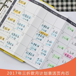 Wholesale Core Accounts - Wholesale- original 6 hole sheet for the core A5 month schedule within the core account hand notebook stationery wholesale