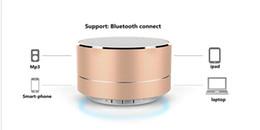 Wholesale Mp3 Modern - New Modern Aluminum Alloy Cylinder A10 Mini Speaker Wireless Bluetooth Speaker Calls Handsfree TF Card Music Bass Subwoofer Stereo Speaker