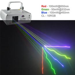 Wholesale Disco Scanner Lights - New SHINP RGB Full Color DMX 512 Beam Laser DPSS Projector Lights PRO DJ KTV Disco Stage Lighting Scanner CL-10RGB