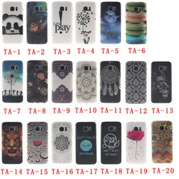 Wholesale Galaxy S4 Panda Case - Ultra Slim Protective Case for Samsung Galaxy S6 S6Edge S7 S7Edge S4 S5 G530H G360 IMD+TPU Scratch-proof Rubber Case with Lion Flower Panda