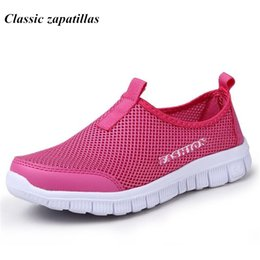 Wholesale Casual Women Shoes Plus Size - Summer Women Shoes 2017 Fashion Solid Breathable Lovers casual Shoes Loafers Woman Flats Plus Size 35-46 Slip-on Network Shoes