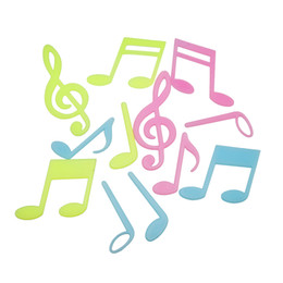 Wholesale Wall Stickers Music Notes - Wall sticker Luminous Music Notation Stickers Note wall stickers fluorescent wall stickers for kids rooms home decor stickers