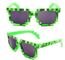 Wholesale Pixelated Glasses - Vintage Pixel Mosaic Plaid sunglasses fashion men women CPU Bit Low Resolution Pixelated Sunglasses UV400 summer beach driving sun glasses