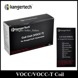 Wholesale Evod Atomizer Coil - Original KangerTech Newest VOCC VOCC-T Coil Replacement Atomizer Head 0.8 1.0 1.2 1.5 1.8ohm fit Kanger Aerotank EVOD Glass