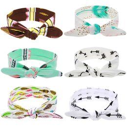 Wholesale Baby Toddler Girl Headband - Headbands Baby Girls DIY baby rabbit ear hair band Elastic Bow Headband Headwear for Newborn Infant Toddler Hair Accessories