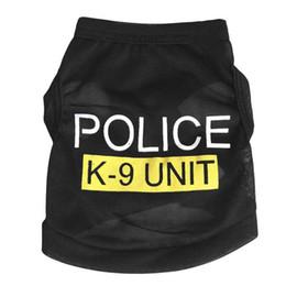 Wholesale Pet Clothes Patterns - black pet dog clothes POLICE K9 UNIT pattern cat clothes dog vests wholesale