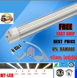 Wholesale Ac Accessories - 30pcs cheap Integrated T8 Led Tube Light Double row Sides 4ft 5ft 6ft 8ft Cooler Lighting Led Lights Tubes AC 85-265V With All accessories