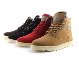 Wholesale Martin Boots For Men - Man Warm hot sale Boots Suede Leather Martin Ankle Boots For Men England Style Male Snow Boots Thicken Plush Mens Winter Boots Retail