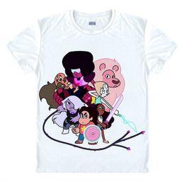 Wholesale Universe Shorts - Wholesale-STEVEN UNIVERSE T Shirt Sugar Life Adventure Crystal Gems T-shirts Anime Men Boy Cartoon Tshirt STAR homme Print Brand top tee