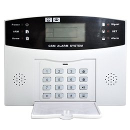 Wholesale 99 Zone Wireless Alarm - Wholesale- 1 pair 433Mhz wireless alloy 4beam IR barrier fence with 1set 99 wireless 8 wired defence zone GSM Wireless system for alarm.