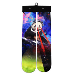 Wholesale Huf Clothing - Wholesale-New Arrival 3D Print Basketball Football Socks Harajuku Brand Clothing Comfortable Casual Men Long Sock Calcetines Hombre OPCOLV