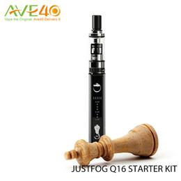 Wholesale Ecigarette Starter - Original Justfog Q16 Starter Kits Ecigarette Q16 2.0ml Tanks 510 Thread Bottom Coil Clearomizer and J-Easy 9 vv Battery