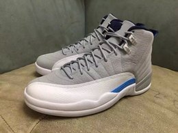 Wholesale Chinese Canvas Sneakers - Discount 2016 Chinese 12 Wolf Grey Blue Gym Red Retro 12s XII French University Blue Hyper Violet GS Cheap Sneakers men Shoes
