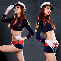 Wholesale Sexy Pvc Adult Costume - Halloween Adult Women's Sexy Cop Cosplay Policewomen Costumes KY-231