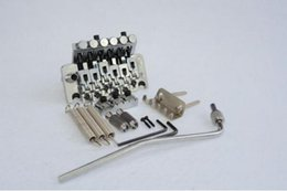 Wholesale Guitar Capo Silver - Floyd Rose Silver Lic Guitar Bridge Edge Style Double Tremolo System