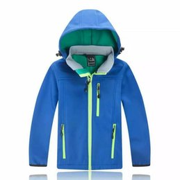 Wholesale Girl Army Jacket - Free shipping children's coat boy and girl winter warm hooded jacket north children's cotton jacket