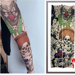 Wholesale Tattoo Prints Nylon Arm Sleeve - Wholesale-Fake Tattoo Sleeve Temporary Body Arm Sleeves Stockings Fashion Make Up Accessories 1PC Flash Body Art Stickers Harajuku 2016