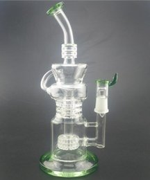 Wholesale Glasses La - green La Pagode oil rig beaker bong water pipes oil rigs recycler glass bongs water pipe smoking pipes hookahs