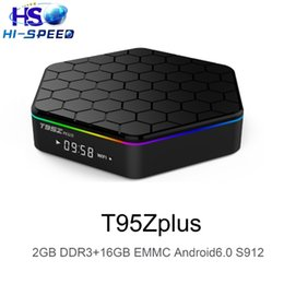 Wholesale Wifi Bt Box - Amlogic S912 T95Z PLUS Android 6.0 TV Box 2GB 16GB Octa-Core Dual Band WiFi BT fully loaded