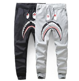 Wholesale Shark Trousers - Hot Sales Tide brand men's casual pants men thickening Wei shark camouflage pants male and female couple plus velvet trousers