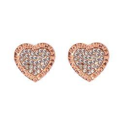 Wholesale Rose Earring Diamond - 2017 Hot heart stud Earrings For Women Girls Cute crystal Ear stud silver gold rose gold 3 color