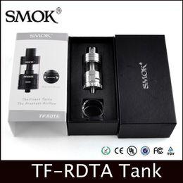 Wholesale E Cigaretter - Smok TF-RDTA Tank 5ml TF RDTA Atomizer clone S2 Deck Dual-Post Velocity Style VS IJOY Tornado RDTA e cigaretter vape atomizers DHL Free