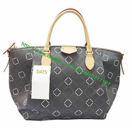 Wholesale Halloween Coats - Top Grade Brown Canvas Coated Leather Lady Handbag Turennne M48815 M48813 M48814 M61253 Women Fashion Designer Tote Bag Oxidization 4 Sizes