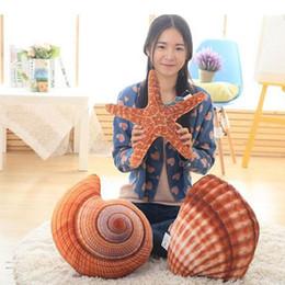 Wholesale Marine Toys For Children - 1pc Creative Marine Life Plush Pillows Conch & Shell & Starfish Staffed Plush Toys Cute Cushion Dolls for Kids Children