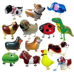 Wholesale Helium Balloon Party - Walking Pet Animal Helium Aluminum Foil Balloon Automatic Sealing Kids Baloon Toys Gift For Christmas Wedding Birthday Party Supplies OTH071