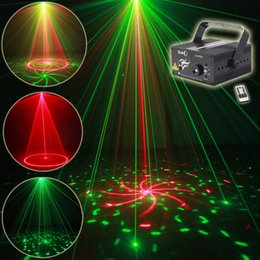 Wholesale Dj Lights Sound Activated - SUNY 2 Lens 24 Pattern RG Colors Mini Portable Party Lights LED Stage Laser Light Disco Lights Dj Light Remote Control Sound Activate
