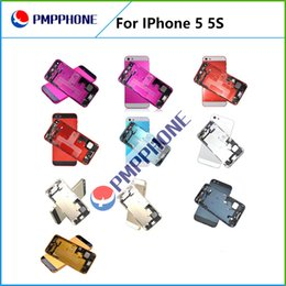Wholesale Midframe For Iphone - Feee DHL FEDEX Shipping Back Battery Cover Case with Middle Frame Midframe Assembly Full Housing Replacement For iphone 5 5S