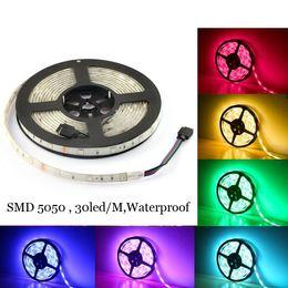 Canada Imperméable à l'eau RGB bande LED 5M 150Led SMD 5050 LED cool blanc blanc chaud lumières 30LED / M IP65 LED bande supplier led tape cool white warm Offre